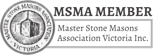 Member of the Master Stone Masons Association Victoria Inc.